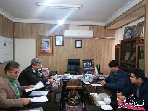 دیدار فرماندار گمیشان با رئیس سازمان صنعت، معدن و تجارت استان