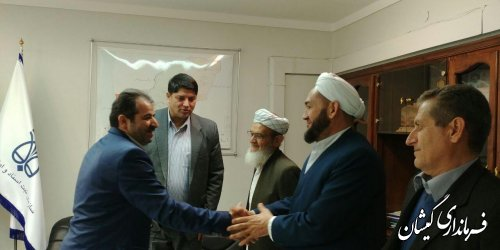 دیدار فرماندار گمیشان با مدیرکل ثبت اسناد و املاک استان