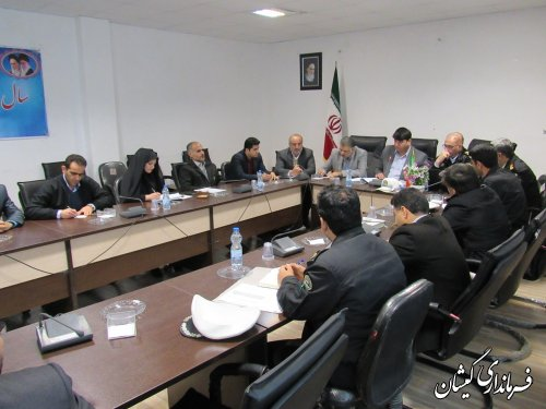 پنجمین جلسه شورای ترافیک شهرستان گمیشان برگزار شد