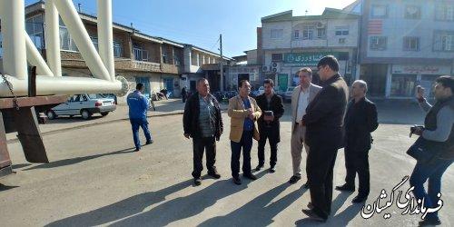 بازدید فرماندار گمیشان از پروژه های عمرانی سطح سیمین شهر