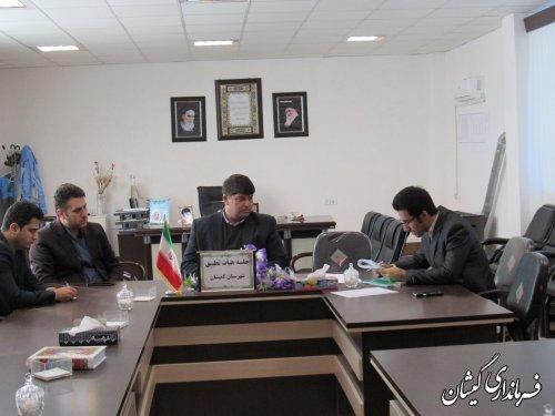 جلسه کمیته انطباق مصوبات شوراهای شهرستان گمیشان برگزار شد