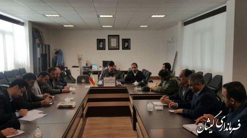 جلسه هماهنگی راهپیمایی 22 بهمن شهرستان گمیشان برگزار شد