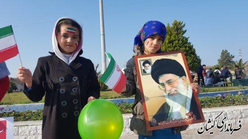 مراسم راهپیمایی یوم الله 22 بهمن در شهرستان گمیشان برگزار شد