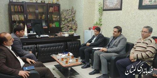 دیدار فرماندار گمیشان با مدیرکل کتابخانه های عمومی استان