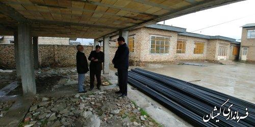 بازدید فرماندار گمیشان از مدرسه در حال ساخت امام سجاد(ع) شهر گمیش تپه