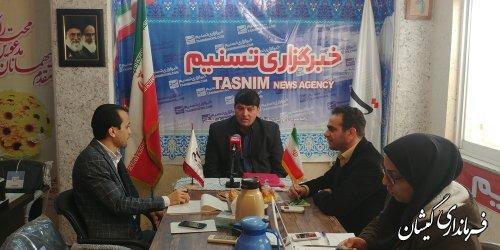 حضور فرماندار گمیشان در دفتر خبرگزاری تسنیم استان