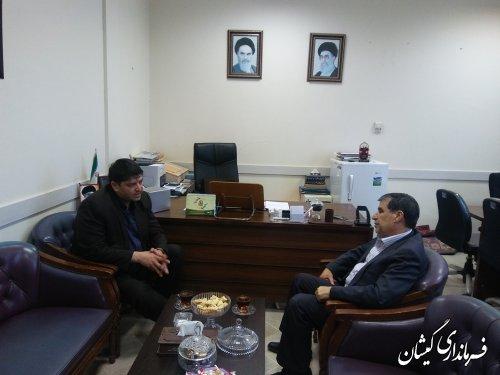 دیدار فرماندار گمیشان با مدیرکل امنیتی و انتظامی استانداری