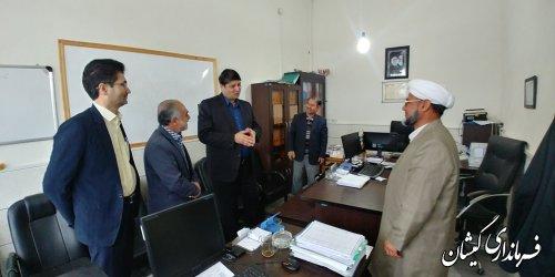 فرماندار گمیشان از کمیته امداد امام خمینی(ره) شهرستان بازدید کرد