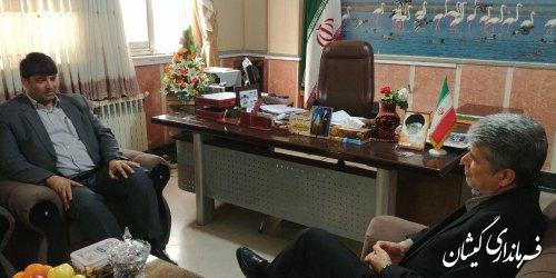 نشست مشترک فرمانداران شهرستان های گمیشان و ترکمن
