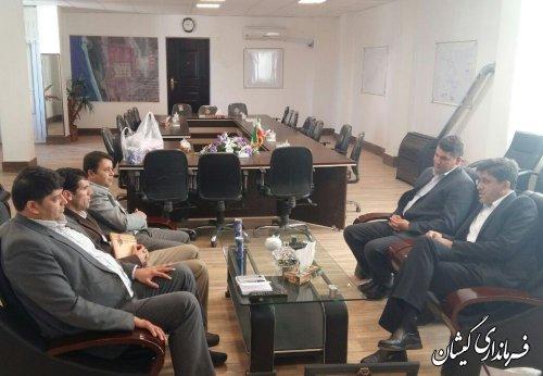 دیدار نماینده مردم منطقه در مجلس شورای اسلامی با فرماندار گمیشان