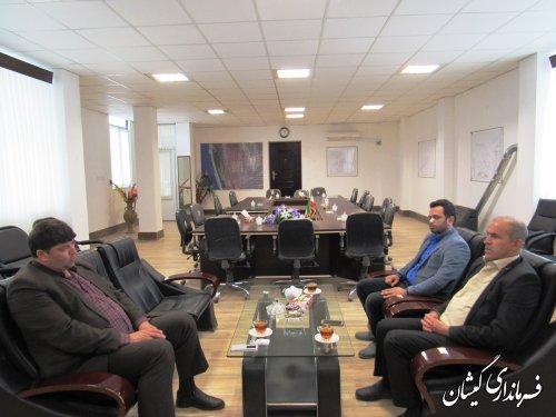 دیدار مدیر امور اراضی استان با فرماندار گمیشان