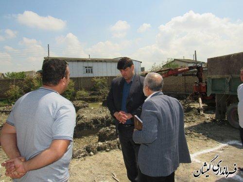 بازدید فرماندار گمیشان از پروژه ساختمان اداری کمیته امدادامام(ره)شهرستان