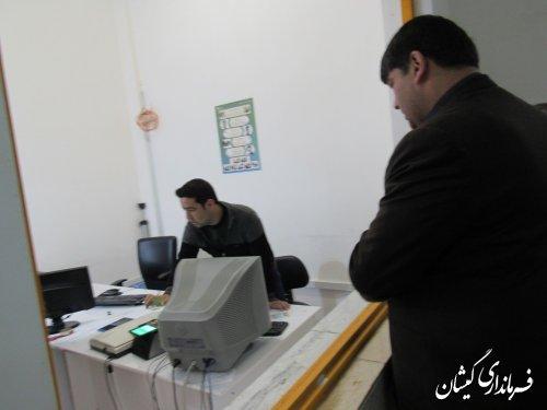بازدید سرزده فرماندار گمیشان از اداره پست شهرستان
