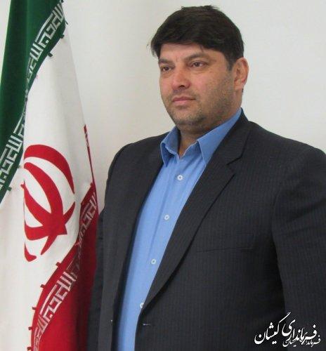 فرماندار گمیشان درپیامی29فروردین روز ارتش جمهوری اسلامی ایران را تبریک گفت