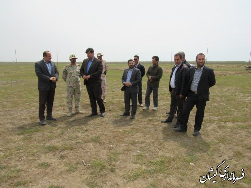 بازدید فرماندار گمیشان از محل آماده ساززی جشنواره ساحلی چارقلی