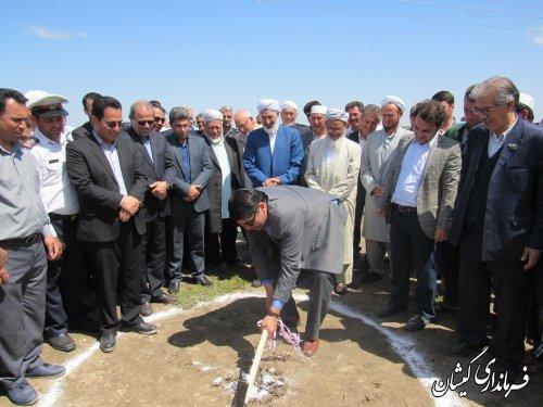 مراسم کلنگ زنی اولین اورژانس 115 خیری در روستای کله پست شهرستان برگزار شد