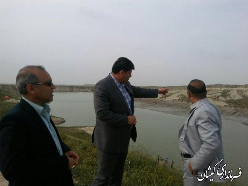 بازدید فرماندار و مدیر کل دفتر امور روستایی و شوراها از گلفشان قارن یارق