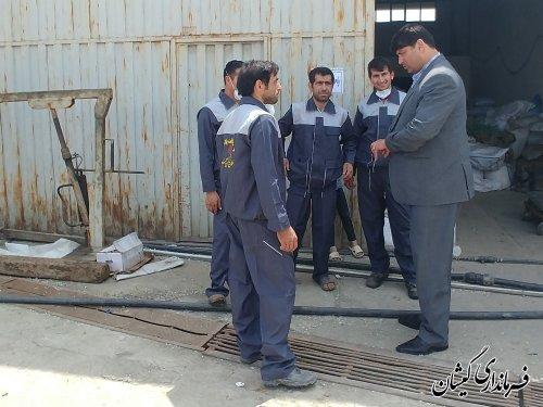 بازدید فرماندار گمیشان از واحد فعال ناحیه صنعتی سیمین شهر