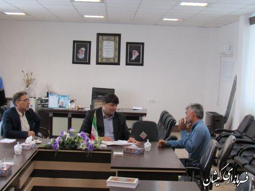 ملاقات عمومی فرماندار گمیشان با مردم شهرستان برگزار شد