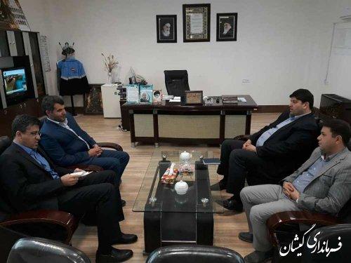 نشست نماینده مردم منطقه در مجلس با فرماندار گمیشان
