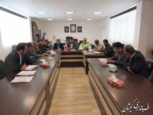 جلسه بررسی وضعیت آب شرب روستاهای سطح شهرستان گمیشان برگزار شد