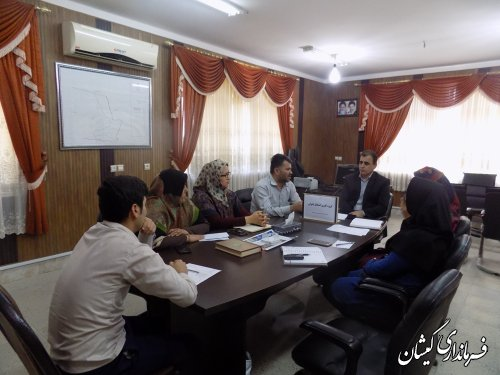 جلسه گروه کاری اشتغال بانوان شهرستان گمیشان برگزار شد