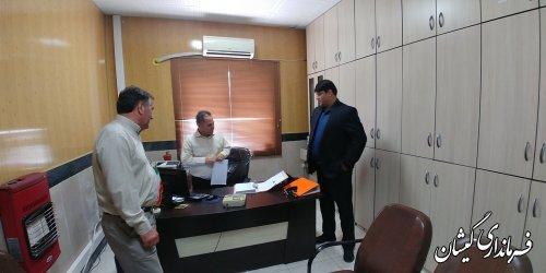 بازدید فرماندار گمیشان از شهرداری سیمین شهر