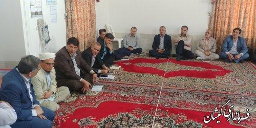 فرماندار گمیشان از روستای قرنجیک خواجه خان بازدید کرد