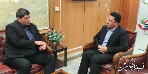 فرماندار گمیشان با مدیر مخابرات منطقه گلستان دیدار و گفتگو کرد