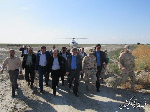 بازدید وزیر کشور و استاندار گلستان از پاسگاه های مرزی شهرستان گمیشان