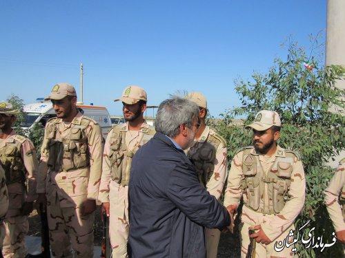 بازدید وزیر کشور از پاسگاه های مرزی شهرستان گمیشان