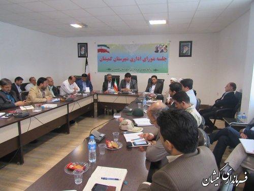 سومین جلسه شورای اداری شهرستان گمیشان برگزار شد