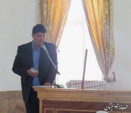 حضور فرماندار گمیشان در نماز جمعه شهرستان