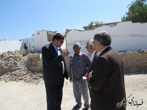 بازدید از مدرسه در حال ساخت امام سجاد(ع) شهر گمیش تپه