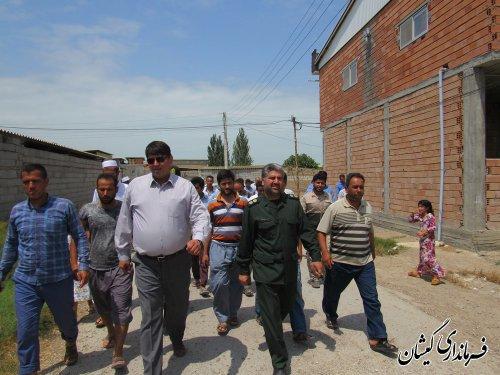 بازدید فرماندار گمیشان از روستاهای بخش مرکزی شهرستان