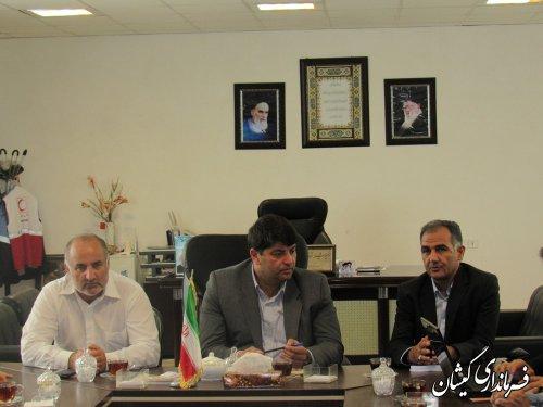جلسه هماهنگی اجرای پروژه سیماک درشهرستان گمیشان برگزار شد