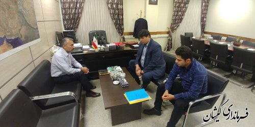 دیدار فرماندار گمیشان با مدیرکل دفتر هماهنگی امور اقتصادی استانداری