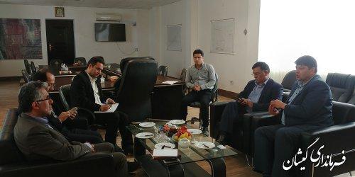 دیدار مدیران کل آموزش و پرورش و نوسازی و تجهیز مدارس استان با فرماندار گمیشان