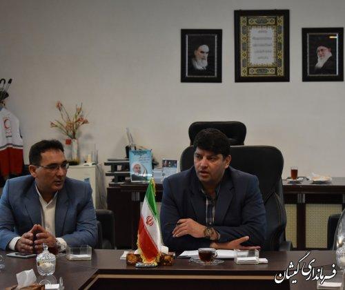 رئیس و کارکنان بهزیستی شهرستان با فرماندار گمیشان دیدار کرد