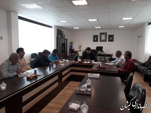 جلسه بررسی مشکلات تامین منابع آبی 5طرح اقتصادی شهرستان گمیشان برگزار شد