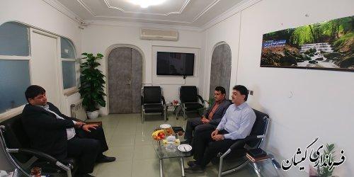 دیدار فرماندار گمیشان با مدیرعامل جدید آبفار استان