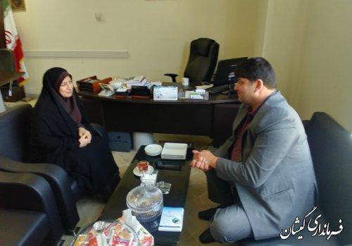 دیدار فرماندار گمیشان با مدیرکل دفتر امورشهری و شوراهای استانداری