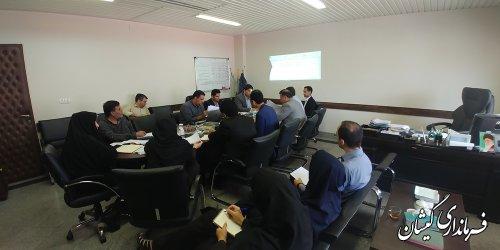 جلسه هم اندیشی توزیع اعتبارات پروژه های سال 97 شهرستان گمیشان برگزار شد