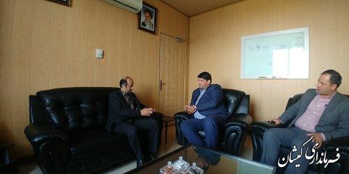 فرماندار گمیشان با مدیرعامل شرکت گاز استان دیدار کرد