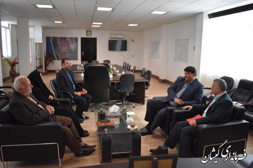 دیدار مدیر شرکت پخش فرآوده های نفتی منطقه استان با فرماندار گمیشان