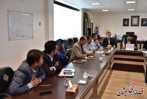جلسه بررسی فرصت ها و چالش های مدیریت شهری و شوراهای شهرستان گمیشان
