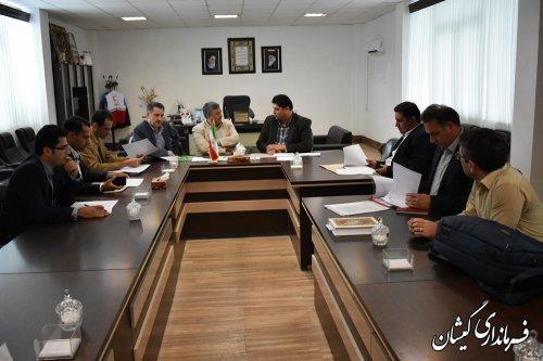 نشست هم اندیشی توزیع اعتبارات پروژه های سال 97 شهرستان گمیشان برگزار شد