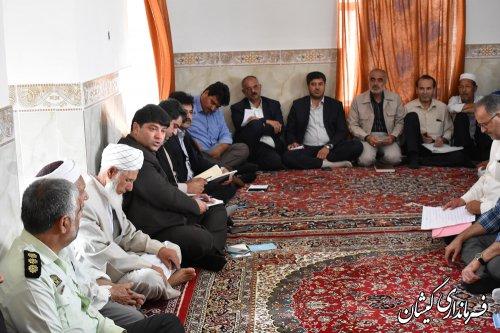 بازدید فرماندار گمیشان از روستای آلتین تخماق بخش مرکزی شهرستان