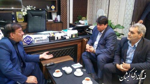 دیدار فرماندار گمیشان با مدیرکل تامین اجتماعی استان