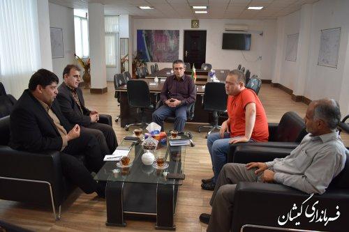 دیدار نماینده سرمایه گذار کشور قزاقستان در استان با فرماندار گمیشان